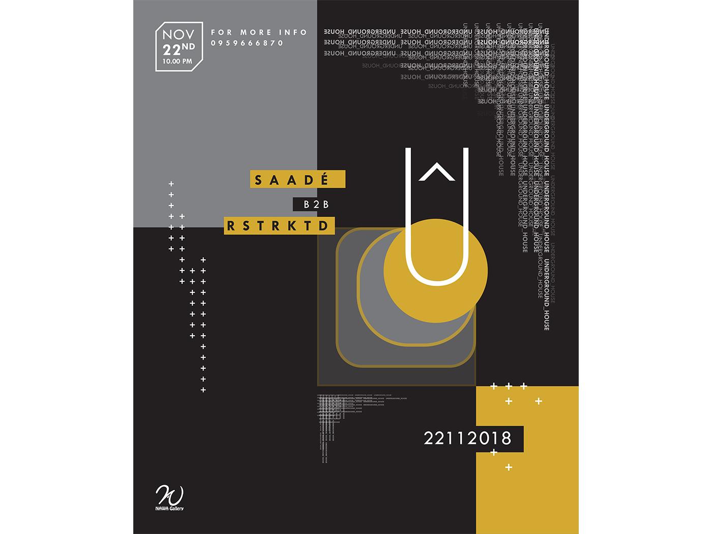 UGH-22112018 Poster vector event techno music syria poster design graphic graphic design