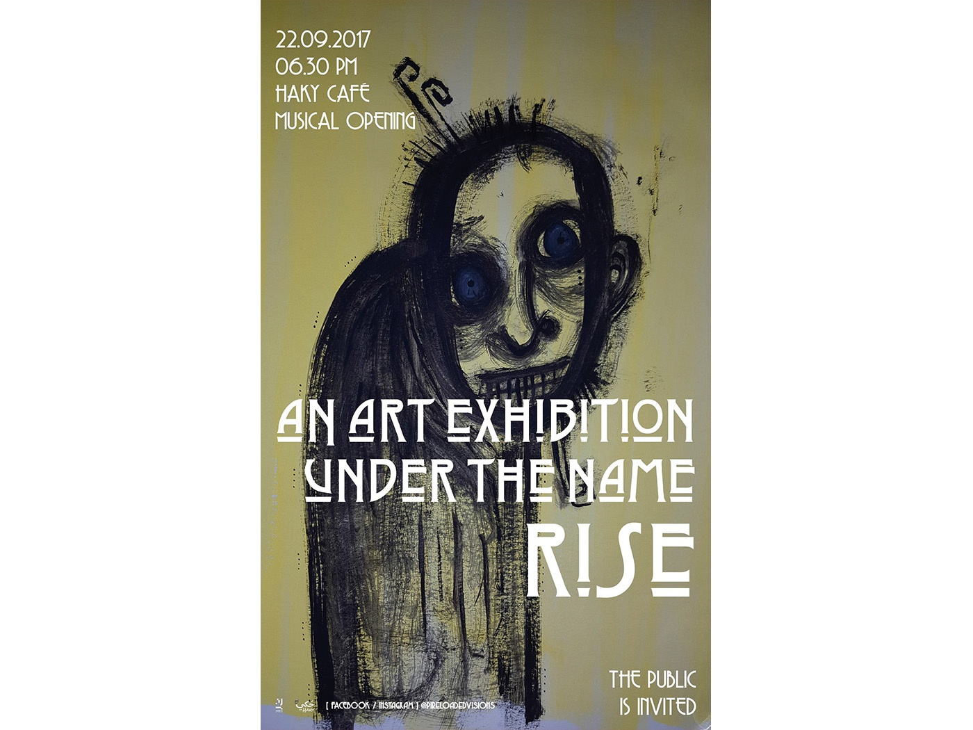 RISE Exhibition - Poster IV rise painting exhibition drawing artistic artist art syria music poster design graphic graphic design