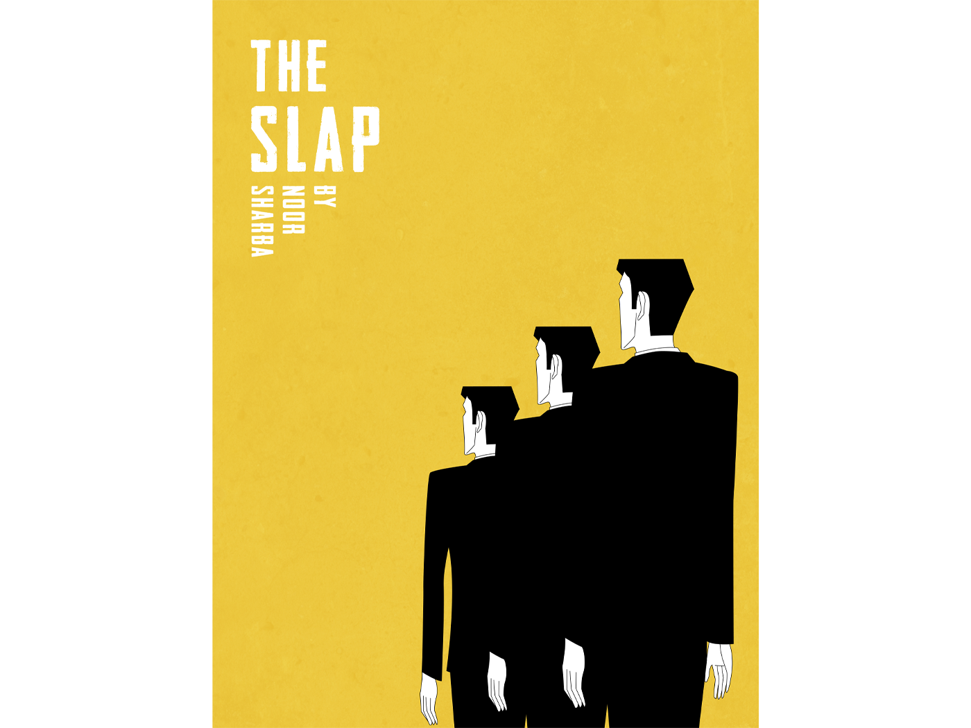 The Slap minimalism minimal negative space space cinema short film film movie yellowish yellow artist artistic poster art illustration syria graphic design graphic design