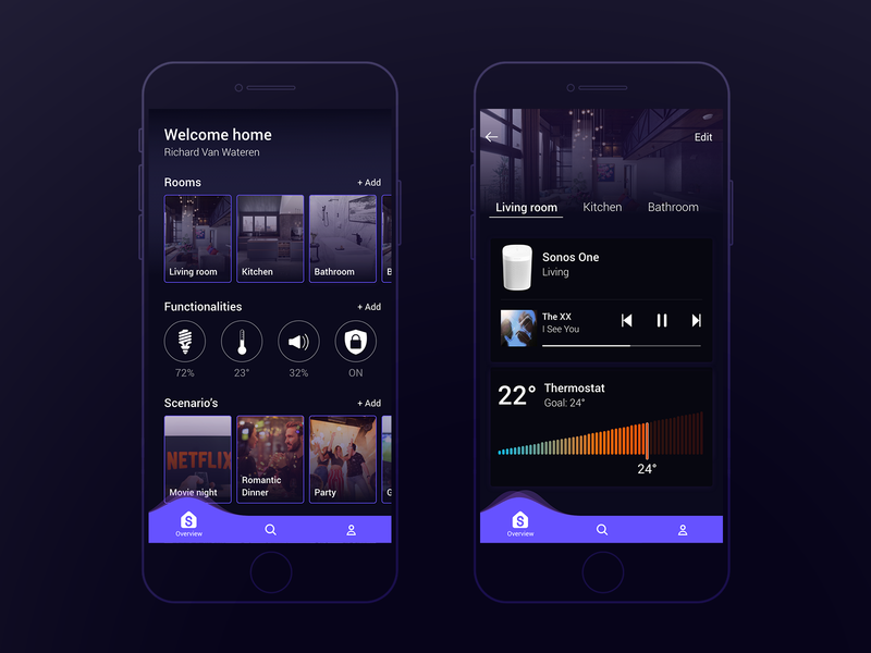Smart Home Control Panel mood adobe xd ux ui future home smart