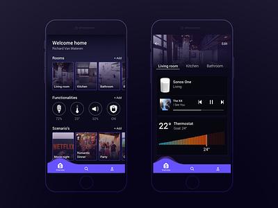 Smart Home Control Panel mood adobe xd ux ui future home smart