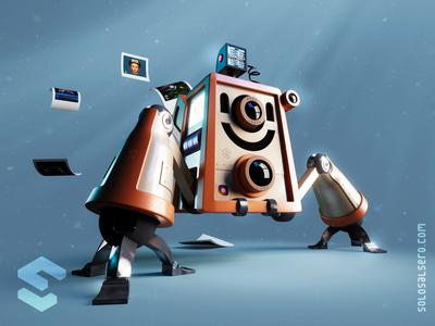 InstaBot render instabot instagram camera 3d robot cinema4d c4d blender graphicdesign character design solosalsero