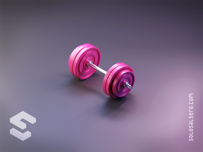 Gym Weight gym metal dribbble pink weight object isometric cinema4d c4d blender graphicdesign design solosalsero
