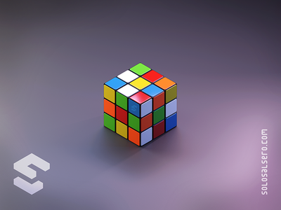 Rubik Cube 3d plastic colors cube rubik object isometric cinema4d c4d blender graphicdesign design solosalsero