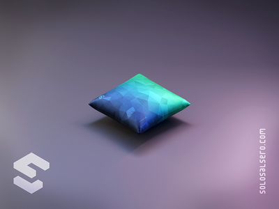 Cushion degraded blue green fabric cushion redbubble 3d object isometric cinema4d c4d blender graphicdesign design solosalsero