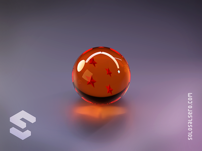 Dragon Ball orange glass goku dragonball dragon sphere ball 3d object isometric cinema4d c4d blender graphicdesign design solosalsero