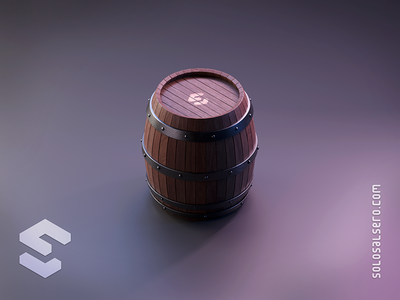 Barrel chavo barrel wooden wood 3d object isometric cinema4d c4d blender graphicdesign design solosalsero