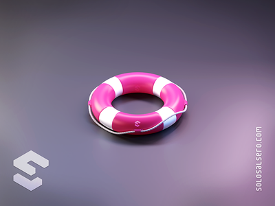 Lifebelt lifebuoy help dribbble pink 3d object isometric cinema4d c4d blender graphicdesign icon design solosalsero