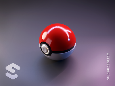 Pokeball pokemon pokeball nintendo 3d object isometric cinema4d c4d blender graphicdesign icon design solosalsero