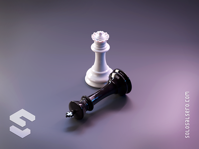 Chess chesspieces chessboard checkmate chess 3d object isometric cinema4d c4d blender graphicdesign icon design solosalsero
