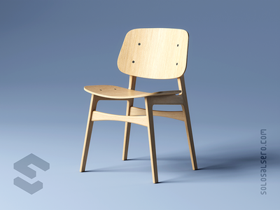 Chair wood chair furniture 3d object cinema4d c4d blender design solosalsero