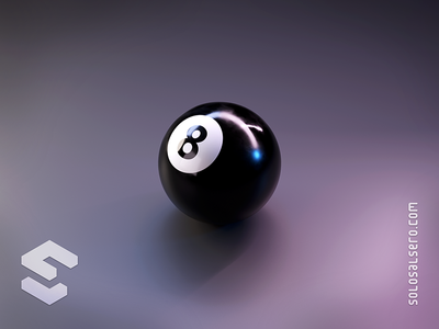 Billards sphere black eightball eight ball billards billard billar 3d isometric object cinema4d c4d blender graphicdesign icon design solosalsero