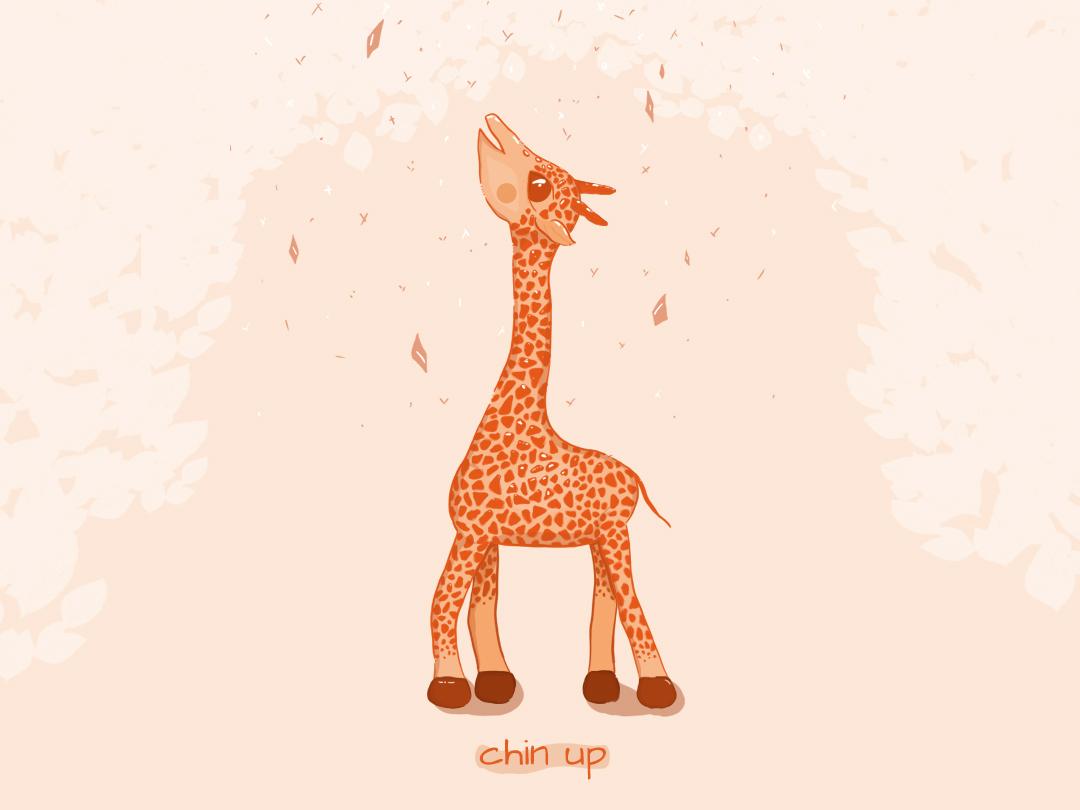 Chin up! digitalart digital drawing inspiration cute animal giraffa illustration