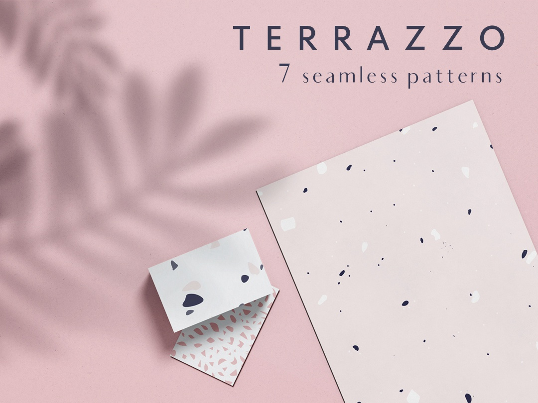 Terrazzo seamless patterns design modern abstract label packaging textile branding pattern seamless terrazzo
