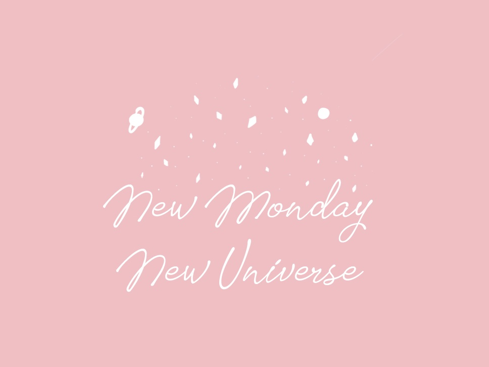 Quote for inspiration illustration design space universe pink new modern monday inspiration quote