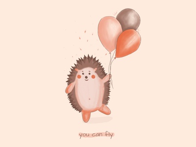 """""""It's time to fly .."""" said the hedgehog."""