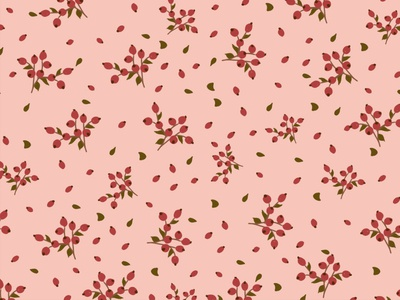 Seamless berry pattern
