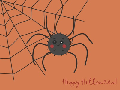 Happy Halloween from a little spider!