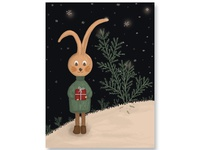 Greeting card with rabbit