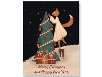 Greeting card with fox