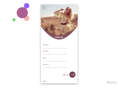 Daily UI #001/100 - Sign Up