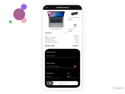 Daily UI #002/100 - Credit Card Checkout