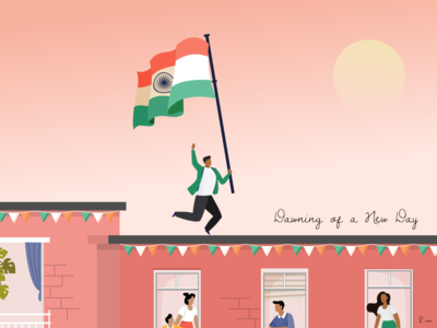 Happy Independence Day 🇮🇳 freedom india illustraion independence independenceday