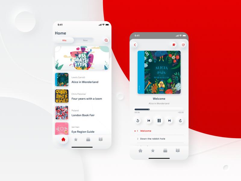Audiobooks iOS App Design concept