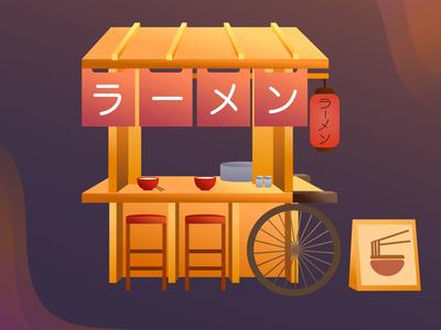 Ramen cart