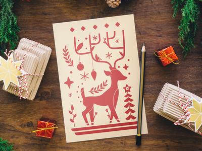 Christmas card illustration