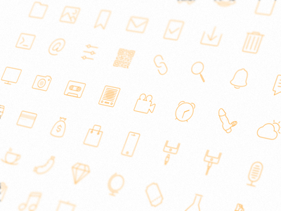 Icon design icons set flat pack vector photo share notifications settings ampersand glyphs