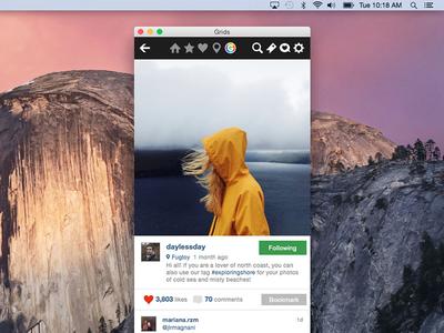 Adaptive grids features instagram design ui adaptive like mac yosemite os x