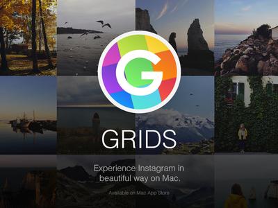 Grids grids features instagram design ui adaptive like mac yosemite os x