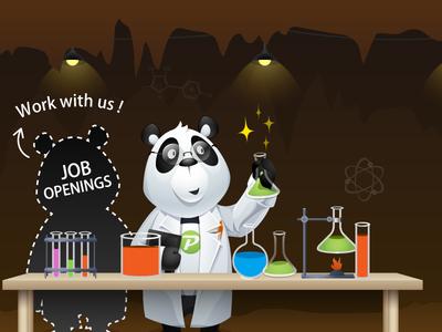 Job design illustration job join invitations responsive startup career hiring opportunity work panda