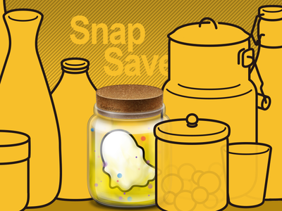 Snapsave - For Snapchat video photo ghost app ios osx icon logo design save snapsave snapchat