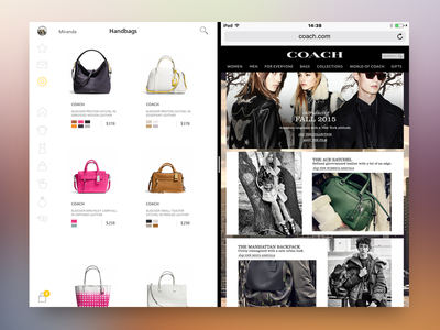 Split View split view ux shopping product page cart flat ipad interface ui design ios