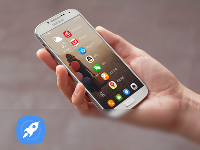 Launcher app icon home widget android ios interface design ux ui quick launcher