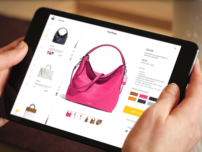 Shoping ux ui view shopping product page ipad ios interface flat design cart