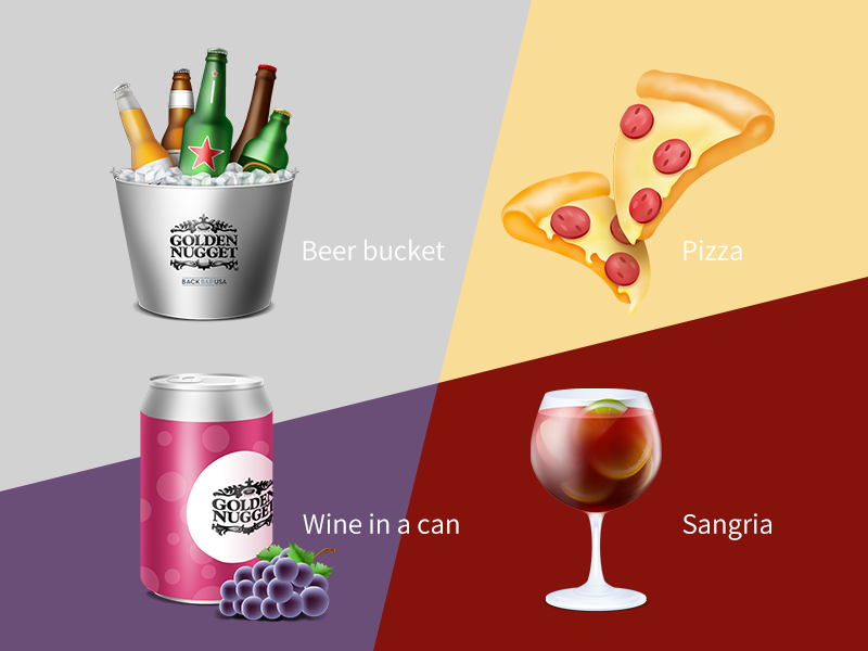 Cocktail sangria pizza wine in a can beer bucket ice drink party bar beverage cocktail alcohol