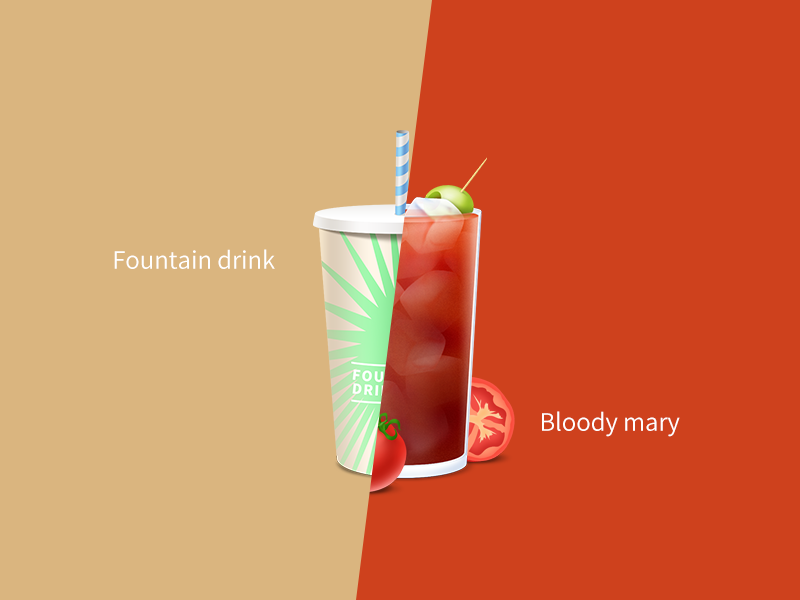 Cocktail bloody mary paper cup ice soda drink party tomato beverage cocktail environmental liquor