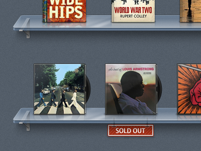 Shelf shelf vinyl music application interface shelves tray ios ipad