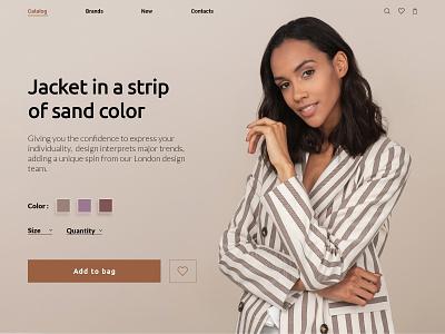 Product Card Page shop product catalog product card online store warm colors web site web site design ui  ux design webdesign jacket ecommerce minimal product product concept