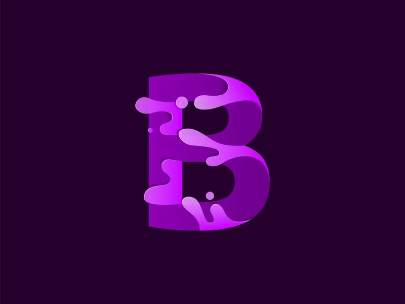 Letter B colorful letter art letter b letter illustration illustrator