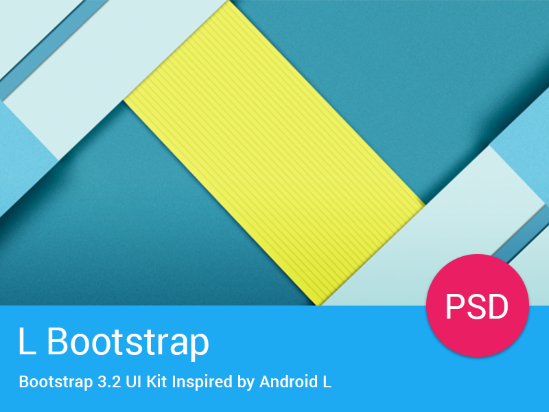 L Bootstrap Freebie - UI Kit Inspired by Android L ui bootstrap android l ui kit free freebie download psd elements components template