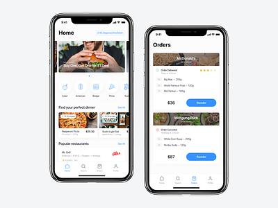 Food Delivery App — Liinda design app flat app ux ui design delivery food app