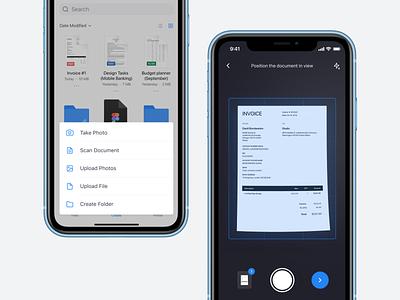 ☁️ Cloud File Manager – FileX file manager cloud clean flat product design app ux ui design app
