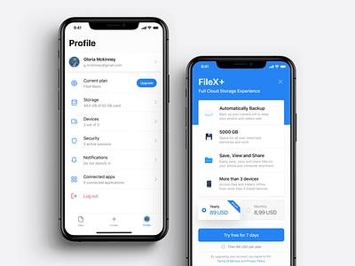☁️ Cloud File Manager – FileX uidesign uxdesign neuomorphism skeuomorphism flat file manager cloud clean product design app ux ui design app