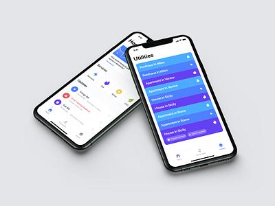 Tate.it - Bills Managment Application product design clean product design app ux ui design app
