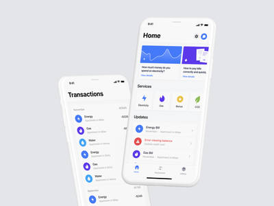 Tate.it - Bills Managment Application fintech trand product design cloud clean product design app ux ui design app
