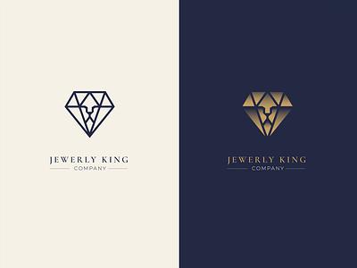 jewerly king king jewerly lion illustration logo design logo branding vector design